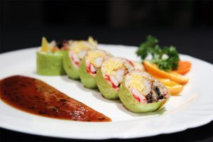 Fire-on-ice---unique-blend-of-eel,-shrimp-and-mango!